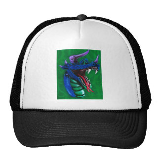 dragon and flames trucker hat