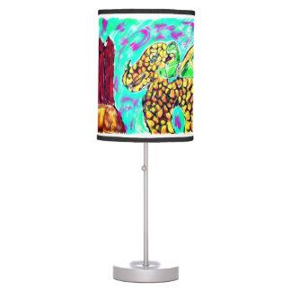 Dragon and Garnet Table Lamp