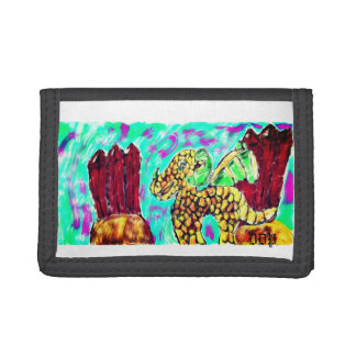 Dragon and Garnet Tri-fold Wallets