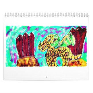 Dragon and gemstones wall calendars