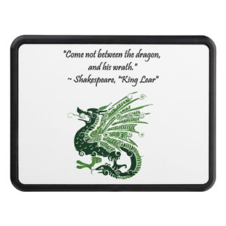 Dragon and His Wrath Shakespeare King Lear Cartoon Trailer Hitch Cover