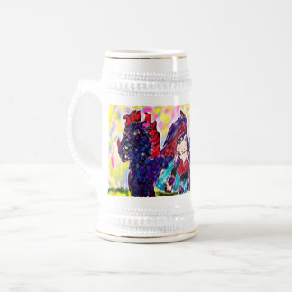 Dragon and Knight Beer Stein