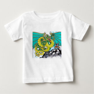 dragon and knight fight baby T-Shirt