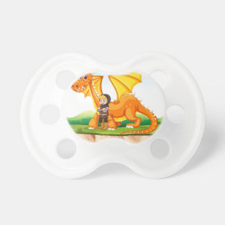 Dragon and knight pacifier