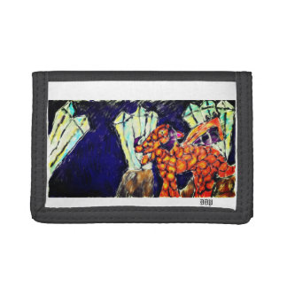 Dragon and opal trifold wallets