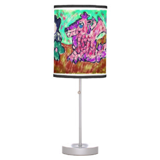 Dragon and pearl table lamp