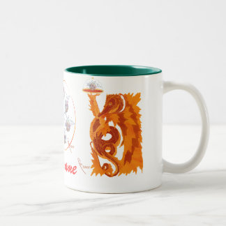 dragon and pearl Two-Tone coffee mug