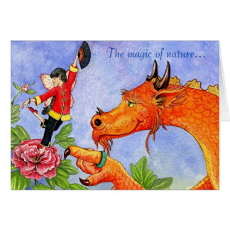Dragon and Peony Fairy card