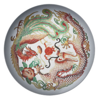 Dragon and Phoenix Stencil Plate