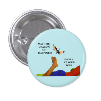 Dragon and Toes 1 Inch Round Button