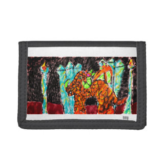 Dragon and Turquoise Trifold Wallets