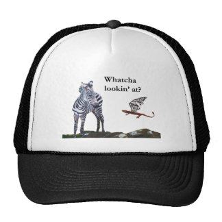 dragon and zebra trucker hat