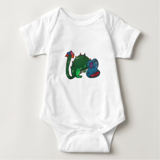 dragon angles baby bodysuit
