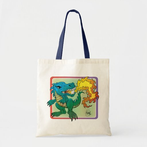 Dragon Art inspired by little t by Scott Rosema Tote Bag