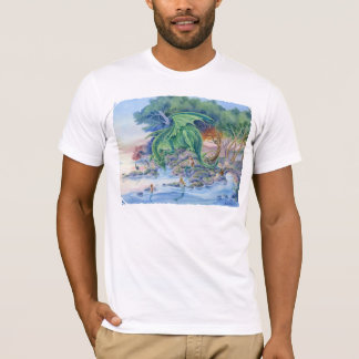 Dragon art & Mermaid art T Shirt American Apparel