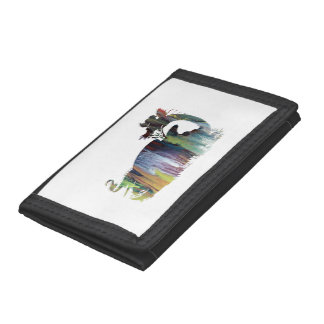 Dragon art tri-fold wallet