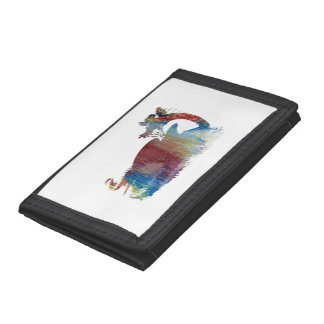 Dragon art tri-fold wallets