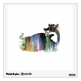 Dragon art wall decal