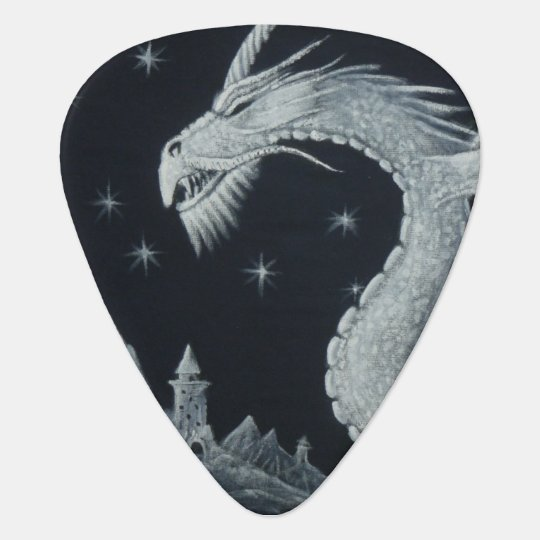 Dragon at Night Guitar Pick