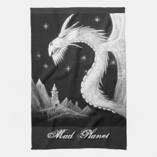 Dragon at Night Painting Hand Towels