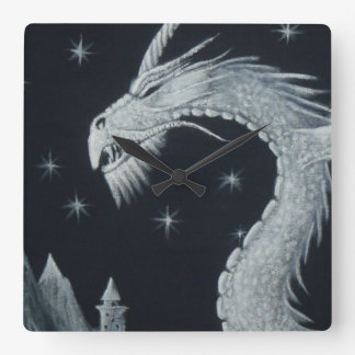 Dragon at Night Wall Clock