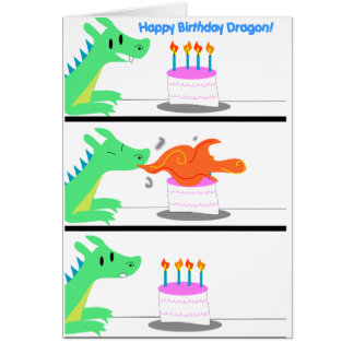 Dragon Birthday card Funny!