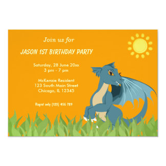 "Dragon Birthday Party 5"" X 7"" Invitation Card"