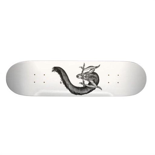 Dragon black and white Design Custom Skate Board