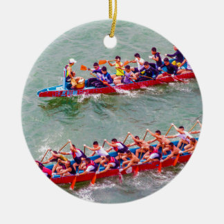 Dragon Boats Ceramic Ornament