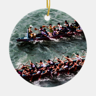 Dragon Boats e1 Ceramic Ornament