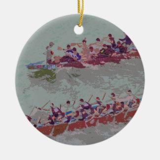 Dragon Boats e4 Ceramic Ornament
