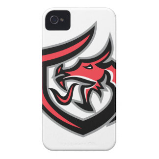 Dragon Breathing Fire Side Shield Retro iPhone 4 Cover
