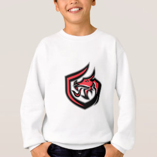 Dragon Breathing Fire Side Shield Retro Sweatshirt