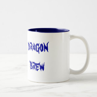 dragon brew Two-Tone coffee mug