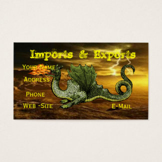 Dragon business cards fully customizable