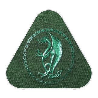 Dragon celtique vert haut-parleur bluetooth