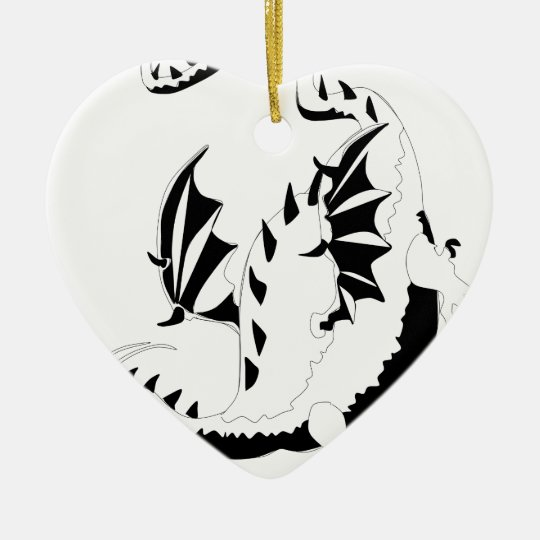 dragon ceramic ornament