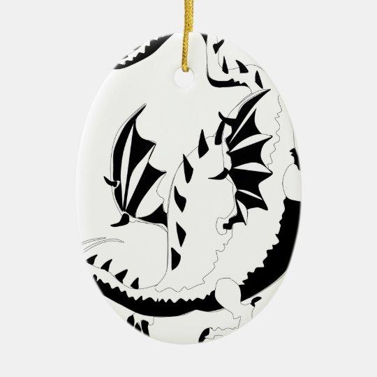 dragon ceramic ornament