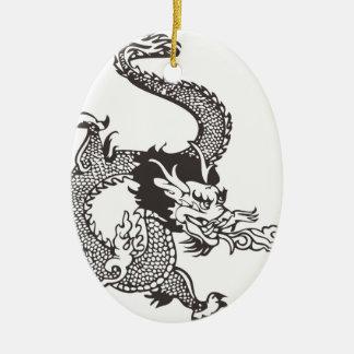 Dragon Ceramic Oval Ornament