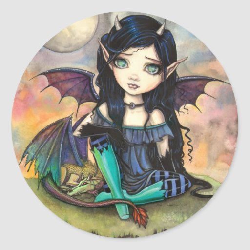 Dragon Child Cuge Big-Eye Fairy and Dragon Stickers