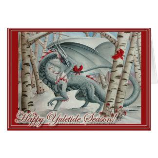 Dragon Christmas Yule card
