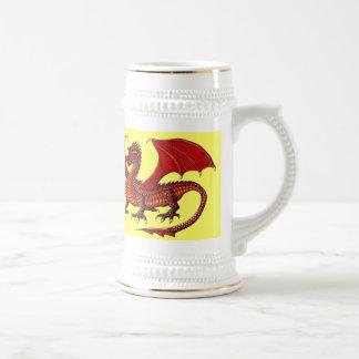 Dragon cool beer mug design