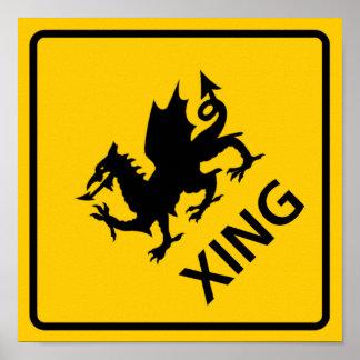 Dragon Crossing Highway Sign