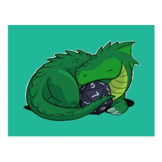 Dragon D20 vert Cartes Postales