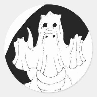 Dragon de fantôme adhésifs ronds
