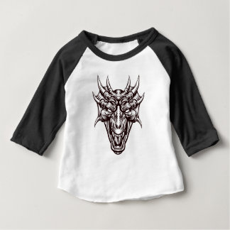 Dragon Demon Monster Head Face Baby T-Shirt