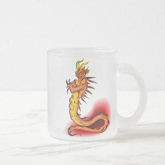 Dragon Design 36 Frosted Glass Mug