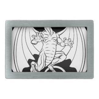 Dragon Design Belt Buckle