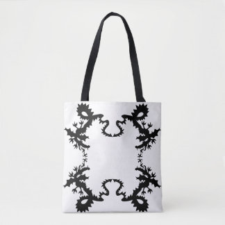 Dragon design Black & White Tote Bag