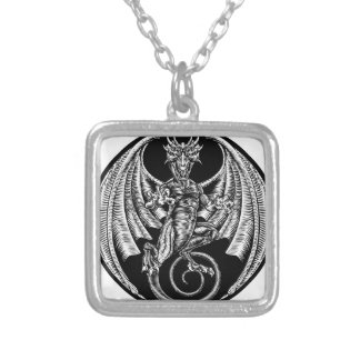 Dragon Design Silver Plated Necklace